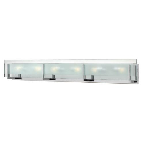 Hinkley Latitude Chrome Six Light Bath Fixture