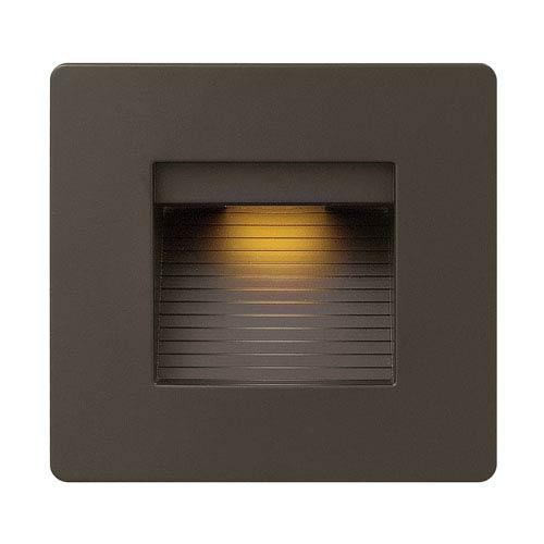 Luna Bronze Line Voltage Square LED Landscape Deck Light