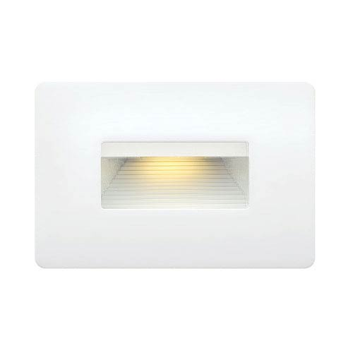 Luna Satin White Line Voltage 4.5-Inch LED Landscape Deck Light