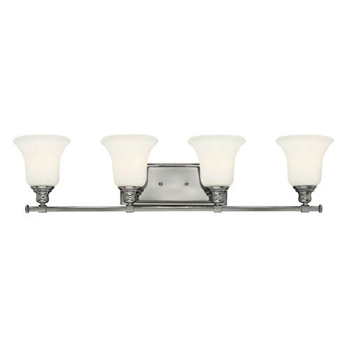 Hinkley Colette Chrome Four Light Bath Fixture