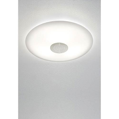 Satin Nickel LED Two-Light Flush Mount with Dekor Trim