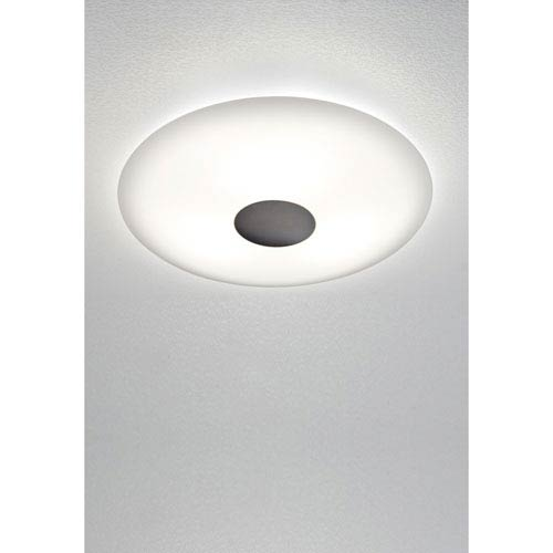 Oil Rubbed Bronze LED Two-Light Flush Mount with Solid Trim
