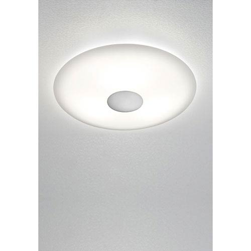 Satin Nickel LED Two-Light Flush Mount with Solid Trim