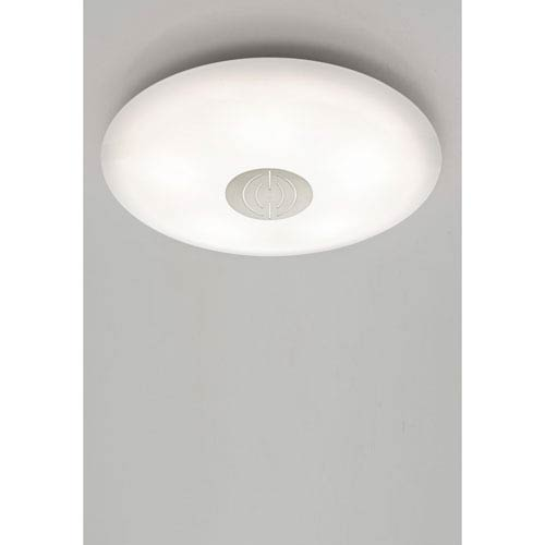 Holtkotter Satin Nickel LED 16-Inch Flush Mount with Dekor Trim