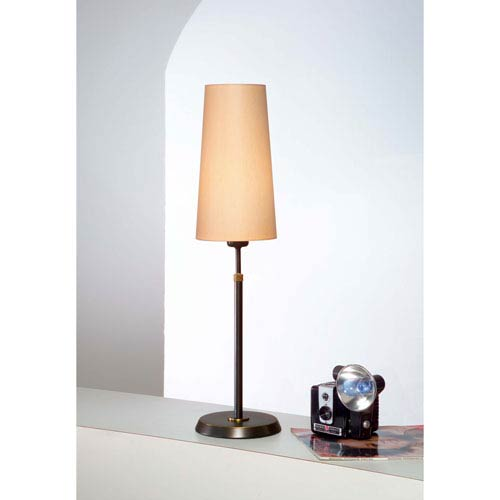 Bronze One-Light Table Lamp with Narrow Kupfer Shade