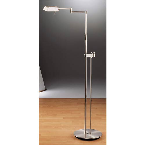 Original Satin Nickel Halogen Reading Lamp with Dimmer
