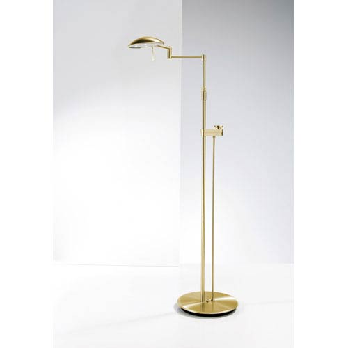 Brushed Brass LED Floor Lamp