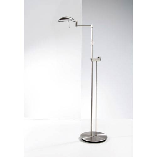 Satin Nickel LED Floor Lamp