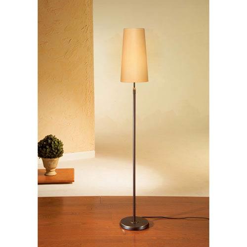 Bronze One-Light Floor Lamp with Narrow Kupfer Shade