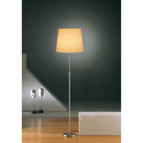 Satin Nickel One-Light Floor Lamp with Regular Kupfer Shade