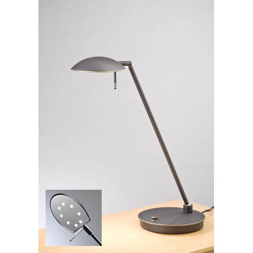Bernie Turbo Series Hand Brushed Old Bronze LED Desk Lamp