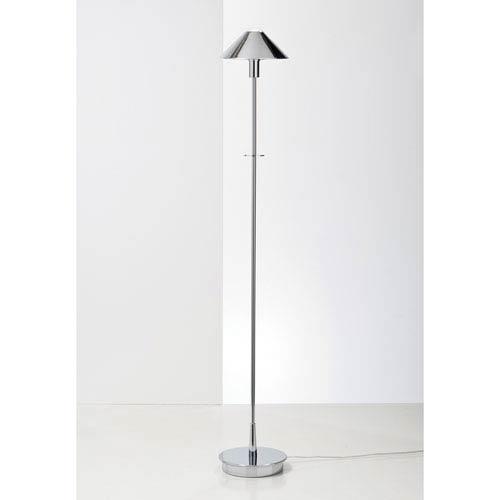 Lighting For The Aging Eye Satin Nickel One-Light Floor Lamp