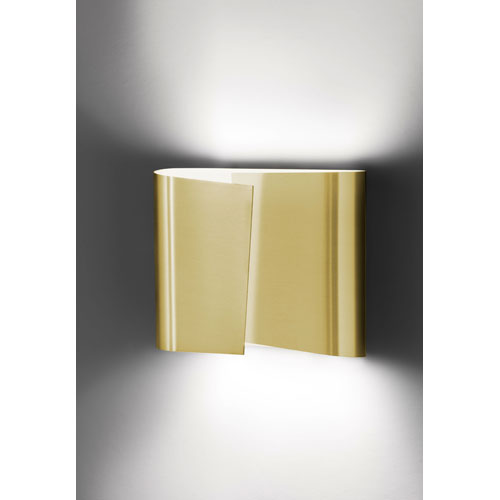 Filia Series Brushed Brass Two Light Wall Sconce