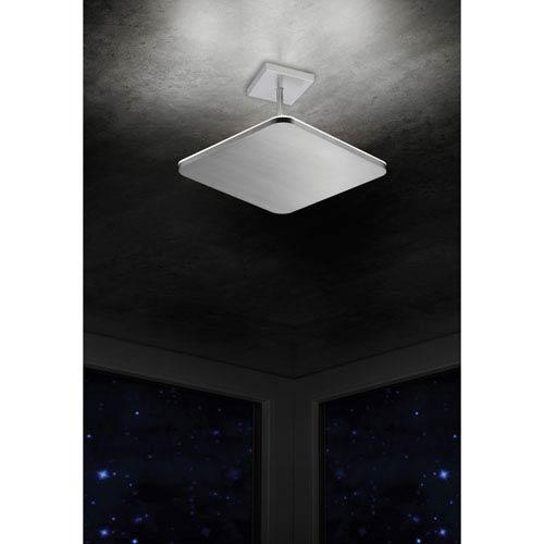 Pegasus Brushed Aluminum LED Four-Light Semi-Flush Mount