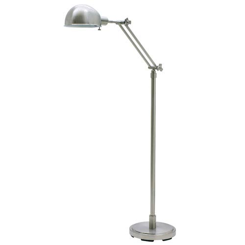 House Of Troy Addison Satin Nickel One-Light Floor Lamp