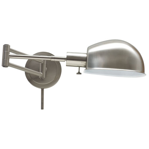Addison Satin Nickel One-Light Swing Arm Lamp