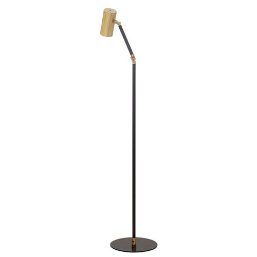House Of Troy Cavendish Weathered Brass and Black 17.5-Inch LED Floor Lamp
