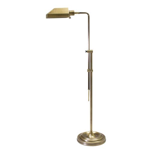 House Of Troy Coach Antique Brass One-Light Floor Lamp