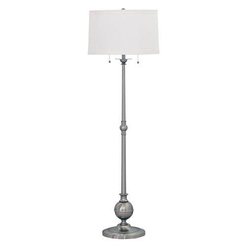 Essex Satin Nickel Two-Light Floor Lamp