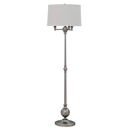 House Of Troy Es Satin Nickel Four Light Floor Lamp