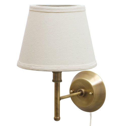 House Of Troy Greensboro Antique Brass 13-Inch One-Light Portable Wall Lamp