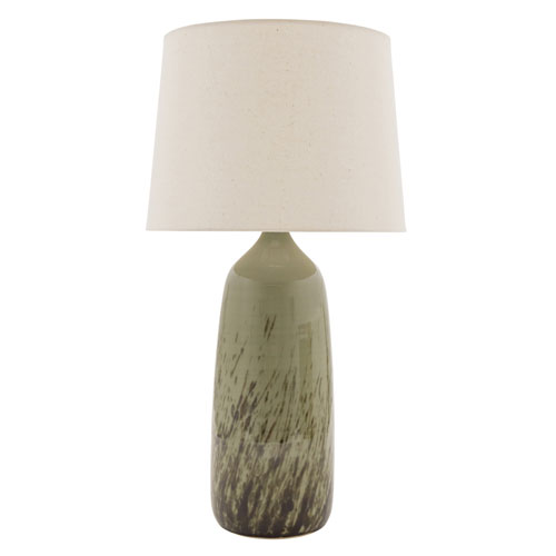 Scatchard Decorated Celadon 29-Inch One-Light Table Lamp