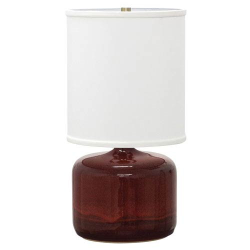 House Of Troy Scatchard Copper Red 19.5-Inch One-Light Table Lamp