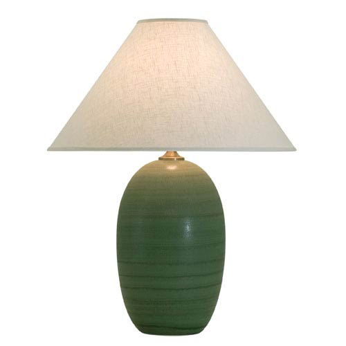 House Of Troy Scatchard Green Matte One-Light Table Lamp