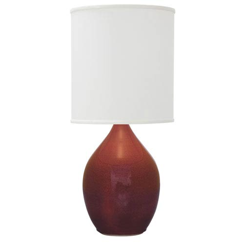 House Of Troy Scatchard Crimson Red 20.5-Inch One-Light Table Lamp