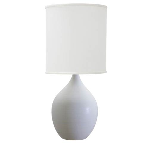 House Of Troy Scatchard White Matte 20.5-Inch One-Light Table Lamp