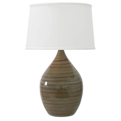 House Of Troy Scatchard Tigers Eye 18.5-Inch One-Light Table Lamp