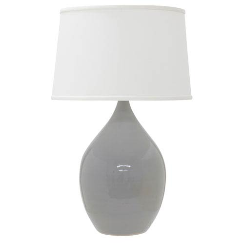 House Of Troy Scatchard Gray Gloss 21-Inch One-Light Table Lamp