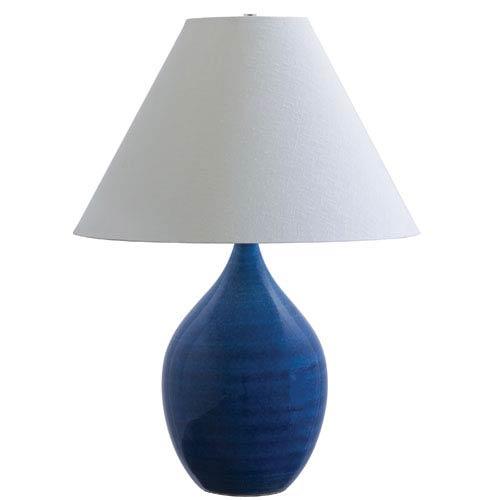 Scatchard Blue Gloss One-Light Table Lamp