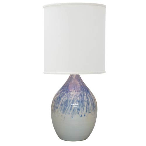 House Of Troy Scatchard Decorated Gray 30-Inch One-Light Table Lamp