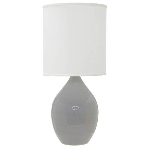 House Of Troy Scatchard Gray Gloss 30-Inch One-Light Table Lamp