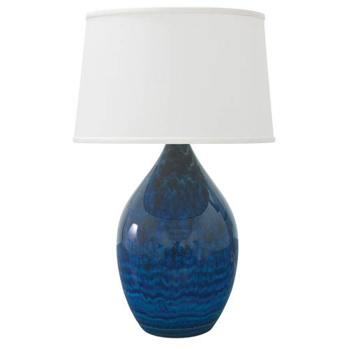 House Of Troy Scatchard Midnight Blue 24.5-Inch One-Light Table Lamp