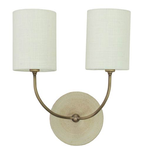 Scatchard Oatmeal 14.5-Inch Two-Light Wall Sconce