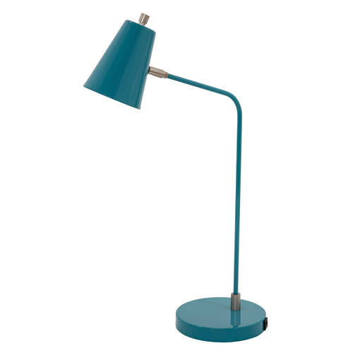 Kirby Teal LED Table Lamp