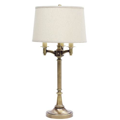 House Of Troy Lancaster Antique Brass Four-Light Table Lamp