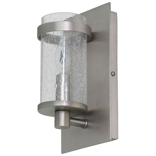 Lake Shore Satin Pewter One-Light  Wall Sconce