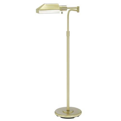 Satin Brass Floor Lamp