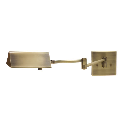 Pinnacle Antique Brass One-Light Wall Arm Swing