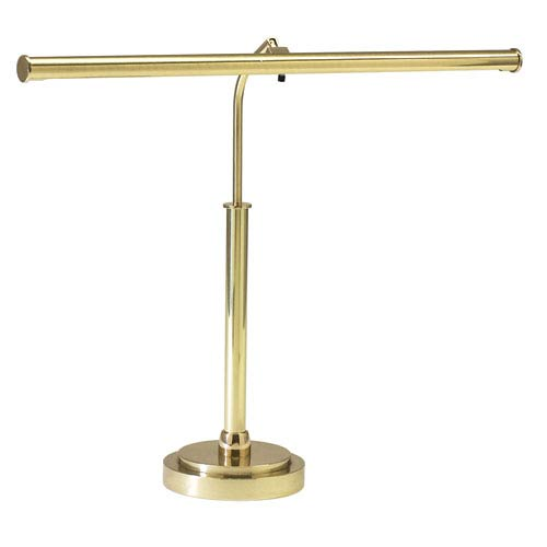 House Of Troy Polished Brass 16-Inch LED Piano and Desk Lamp