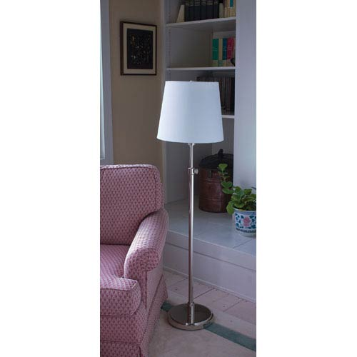 House Of Troy Townhouse Polished Nickel One-Light Floor Lamp