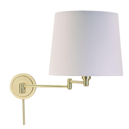Townhouse Raw Brass One-Light Swing Arm Lamp