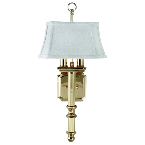 Shaded Two-Light Wall Sconce