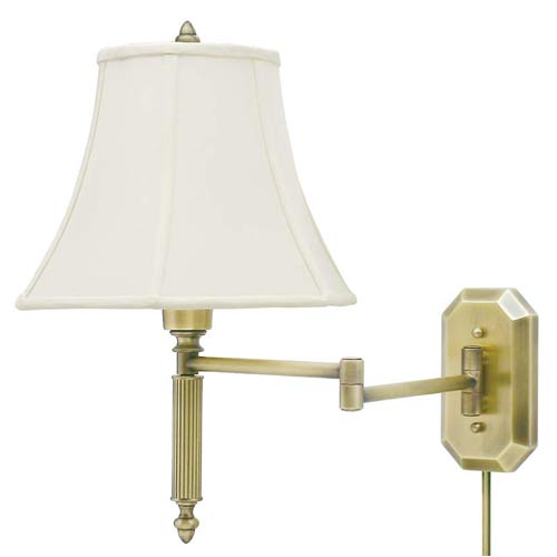 House Of Troy Antique Brass Swing Arm Lamp