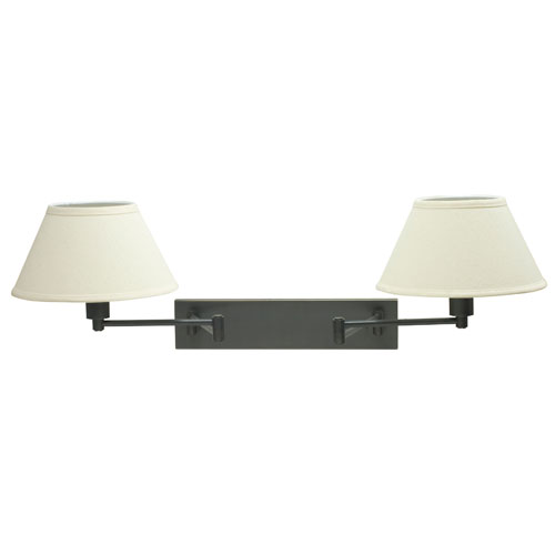 Oil Rubbed Bronze Two-Light Swing Arm Lamp