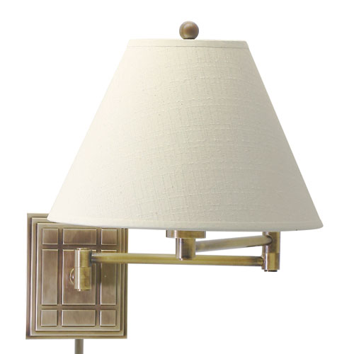 House Of Troy Decorative Antique Brass One-Light Swing Arm Lamp
