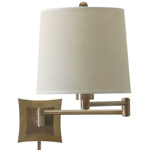 Decorative Antique Brass One-Light Swing Arm Lamp